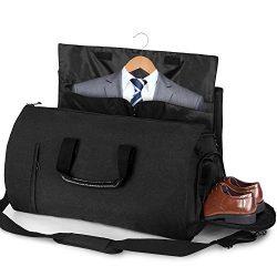 Carry-on Garment Bag Suit Travel Bag Duffel Bag Weekend Bag Flight Bag Gym Bag – Black