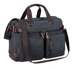Laptop Backpack Canvas Messenger Shoulder Bag Multifunctional Business Briefcase Handbag Travel  ...