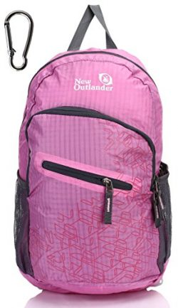 Outlander Packable Handy Lightweight Travel Hiking Backpack Daypack-Pink-L