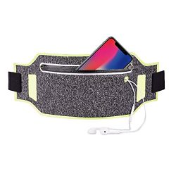 iPhone 8 Running Belt, Ultra Light Bounce Free Waist Pouch Fitness Workout Belt Sport Waist Pack ...