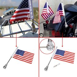 Jade Motorcycle Flag Pole Mount & 6×9 Flag American USA For Honda Goldwing CB VTX CBR Y ...