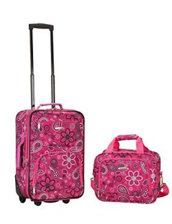 2 PC PINK BANDANA LUGGAGE SET