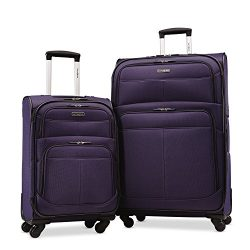 Samsonite Upspin Lightweight Softside Set (21″/29″), Only at Amazon, Space Blue