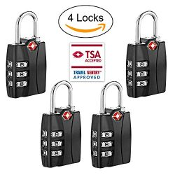 TSA Approved Travel Luggage Backage Locks With Open Alert Travel Security 3 Digit Combination Pa ...