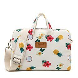 Canvaslife pineapple Pattern 15 inch Waterproof Laptop Shoulder Messenger Bag Case With Rebound  ...