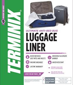 Terminix Travel Bed Bug Proof Luggage Liner – Protection from Dust Mites & Insects  ...