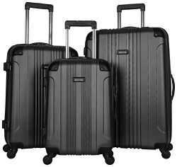 Kenneth Cole Reaction Out of Bounds Luggage 4-Wheel Abs 3-Piece Nested Set: 20″ Carry-on,  ...
