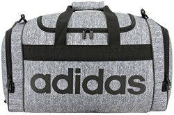 adidas Santiago Duffel Bag, Onix Jersey/Black, One Size