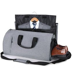 Carry-on Garment Bag Suit Travel Bag Duffel Bag Weekend Bag Flight Bag Gym Bag – Grey