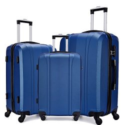Fochier Lightweight Luggage Set 3 Piece Hardshell Spinner Suitcase