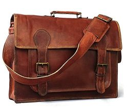 18inch Handmade Genuine Leather Messenger Bag Satchel Bag Winery Products