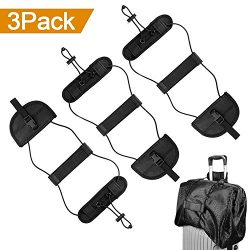 Binew 3Pack Bag Bungee, Luggage Straps Suitcase Adjustable Belt – Lightweight and Durable  ...