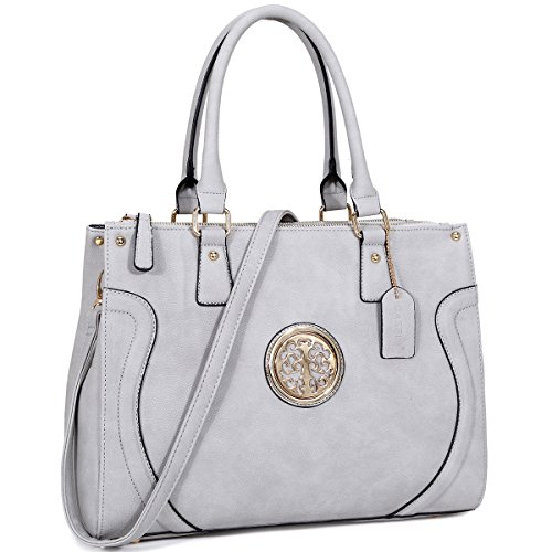 9074ca608eb8 Dasein Women Structured Handbag Large Briefcase Work Bags Top Handle Satchel  Bags Purses