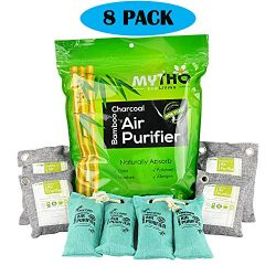 Bamboo Charcoal Air Purifying Bag Naturally Remove Odor from Refrigerator, Cars, Closets, Shoes, ...