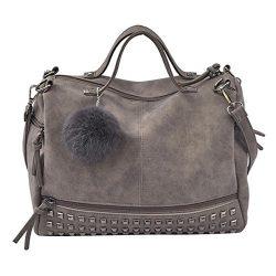 Sunyastor Women Rivet Handbag Large Tote Satchel Shoulder Bag Travel Bag Casual Big Shoppingbags ...