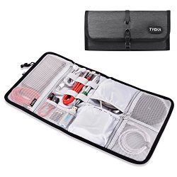 TYCKA Folded Travel Organizer Electronics Bag, Small Carry Case for Cable, Cord, USB, SD Cards,  ...