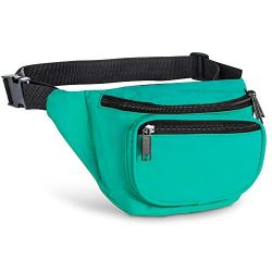 Fanny Pack, AirBuyW 3 Zippered Compartments Adjustable Waist Sport Fanny Pack Bag