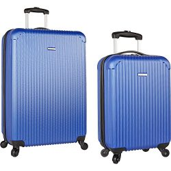 Travel Gear 19″ and 28″ Hardside Spinner Luggage Set with Carry on, Navy