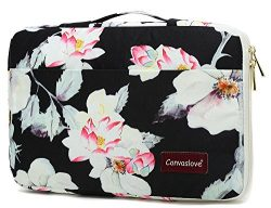 Canvaslove Lotus Waterproof Laptop sleeve bag case with pockets and handle for Macbook Air Pro 1 ...