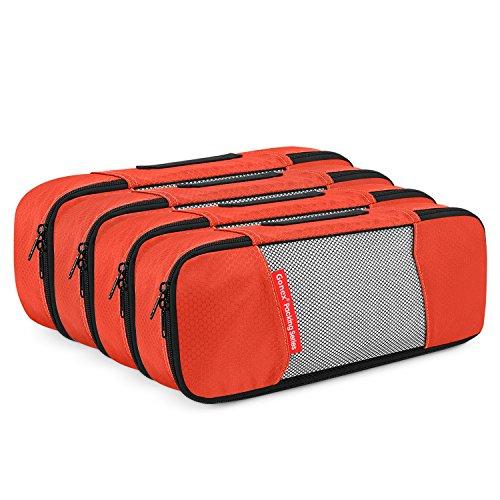 fdfcfb1a83c1 4 Slim Gonex Packing Cubes Travel Luggage Organizer Tangerine ...