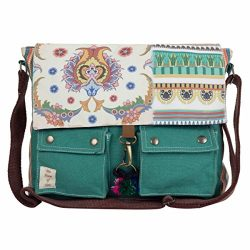 The House of tara Girls' Printed Canvas Messenger Bag 15″X12″X3″ (W X H  ...