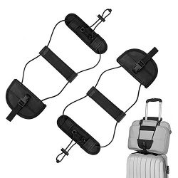 Binew 2Pack Bag Bungee, Luggage Straps Suitcase Adjustable Belt – Lightweight and Durable  ...