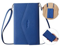 Travelambo Rfid Blocking Passport Holder Wallet & Travel Wallet Envelope 7 Colors (blue with ...