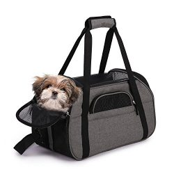 Jespet Soft Sided Pet Carrier Comfort 19″ for Travel, Portable Dog Tote Bag for Small Anim ...