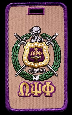 Omega Psi Phi Fraternity Shield Embroidery Id/luggage Tag