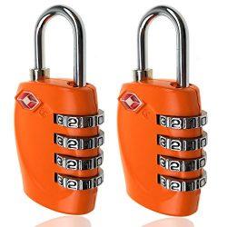 TSA Luggage Locks, 4 Digit Combination Steel Padlocks, Approved Travel Lock for Suitcases &  ...