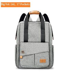 Diaper Bag Backpack Travel Multi-Function – Durable Unisex Large Capacity Changing Bag Ins ...