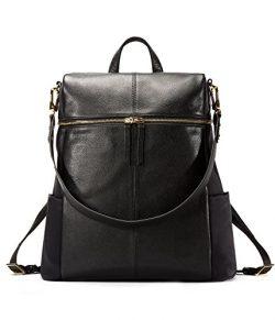 EMINI HOUSE Fashion Women Backpack Goatskin Grain Genuine Leather School Bag Girls Shoulder Bag  ...