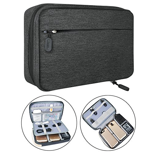 Electronic Organizer Travel Packing Bag – Luxsure Double Layer Travel Gadget Carry Bag for ...