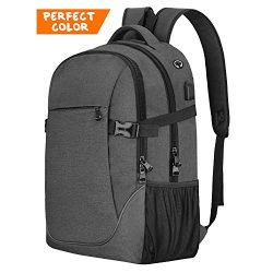 Anti-theft Lightweight Travel Laptop Backpack Dark Grey for School College Student Officer Men & ...