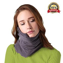 B-COMB Travel Pillow -Travel Neck Pillow Scarf Portable Soft Neck Support Perfect Pillow for Any ...