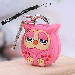 Estone® Creative Cartoon Doll Animal Silicone Metal Luggage Lock Padlock Key Security (Owl)