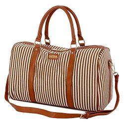 BAOSHA HB-24 Ladies Women Canvas Weekender Bag Travel Duffel Tote Bag Weekend Overnight Travel B ...