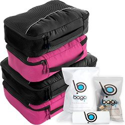 bago Packing Cubes For Travel Bags – Luggage Organizer 10pcs Set in 12 Colors