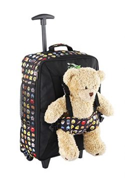Cabin Max Bear Childrens Luggage Carry on Trolley Suitcase (Emoji)