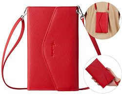 Travelambo Rfid Blocking Passport Holder Wallet & Travel Wallet Envelope 7 Colors (red with  ...