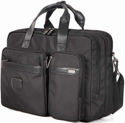LEHANZ Expandable Laptop Messenger Bag, Convertible Backpack Briefcase Multi-functional Shoulder ...