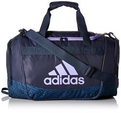 adidas 104385 Defender II Small Duffel Bag, One Size, Trace Blue/Trace Blue Compass/Light Flash  ...