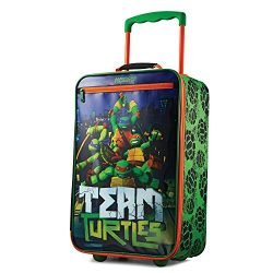American Tourister Kids' Softside 18″ Upright, Nickelodeon Ninja Turtles