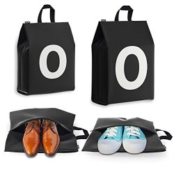 Personalized Initial Travel Shoe Bag (4 Pack) for Men, Women and Kids – (Letter O)
