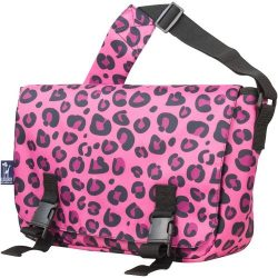 Wildkin Messenger Bag, 15 x 10 Inch Messenger Bag, Includes Interior and Exterior Pockets and Bu ...