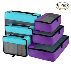 Packing Cubes Organizer Travel Accessories for Luggage 6 Set(2 Color)