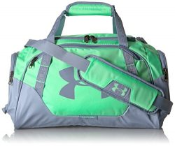 Under Armour Undeniable 3.0 X-Small Duffle Bag, Green Typhoon/Washed Blue