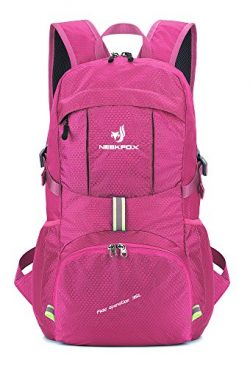 NEEKFOX Lightweight Packable Travel Hiking Backpack Daypack, 35L Foldable Camping Backpack,Ultra ...
