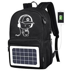 GDSZ USB Solar Charge Backpack For Teenager School Bag 15.6 Inch Fashion Waterproof High Capacit ...