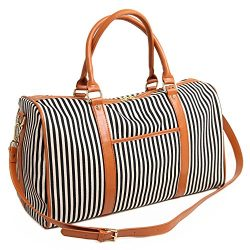 BAOSHA HB-25 Ladies Women Canvas Holdalls Weekender Bag Travel Duffel Tote Bag Weekend Overnight ...